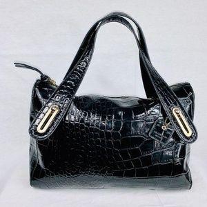 Liz Claiborne Black Patent Leather Satchel